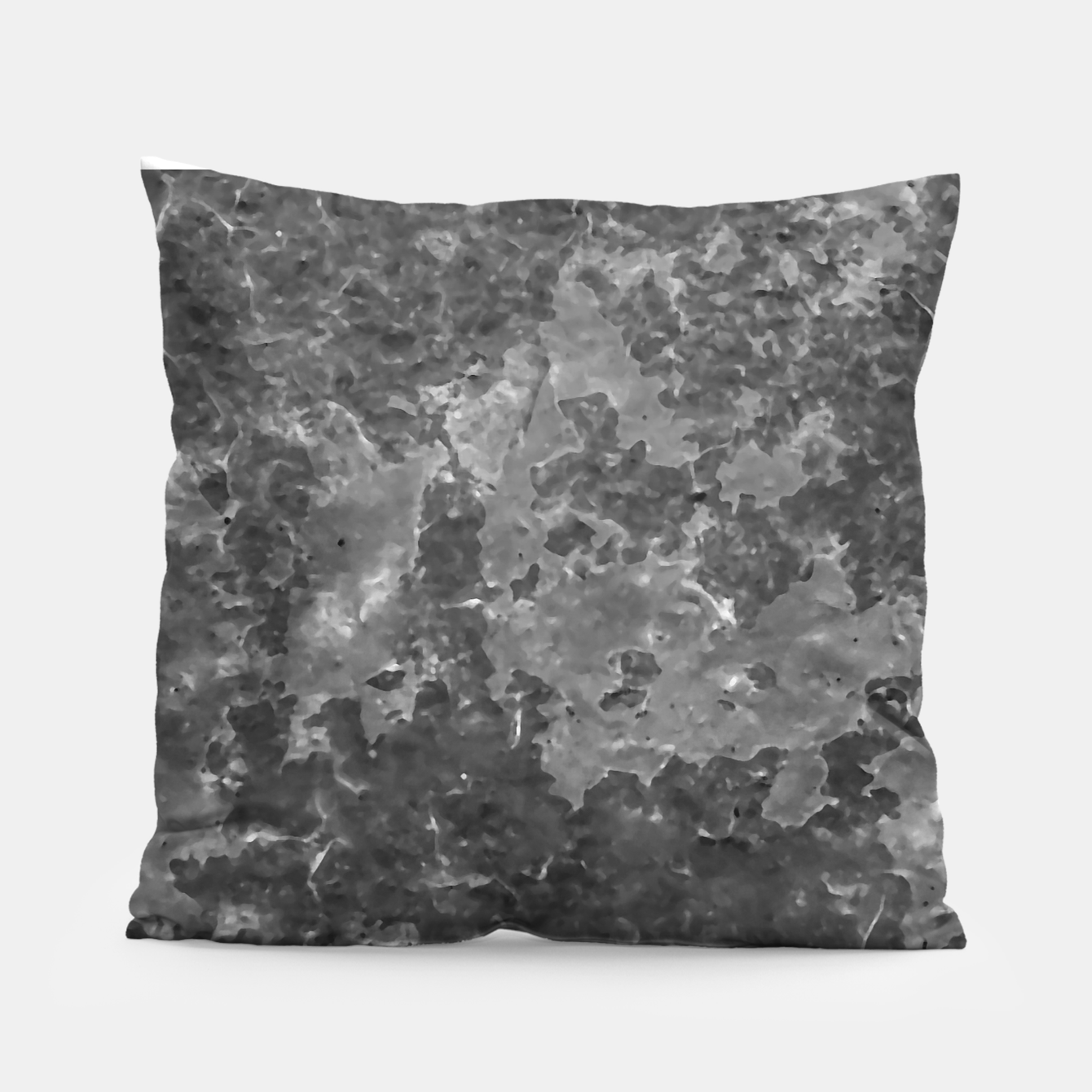 Image of Dark Grey Abstract Grunge Design Pillow - Live Heroes