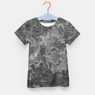 Thumbnail image of Dark Grey Abstract Grunge Design Kid's t-shirt, Live Heroes