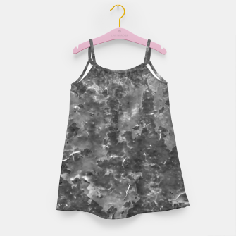 Thumbnail image of Dark Grey Abstract Grunge Design Girl's dress, Live Heroes