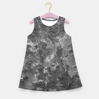 Thumbnail image of Dark Grey Abstract Grunge Design Girl's summer dress, Live Heroes