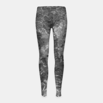 Thumbnail image of Dark Grey Abstract Grunge Design Girl's leggings, Live Heroes