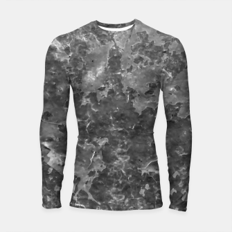 Thumbnail image of Dark Grey Abstract Grunge Design Longsleeve rashguard , Live Heroes
