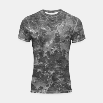 Thumbnail image of Dark Grey Abstract Grunge Design Shortsleeve rashguard, Live Heroes
