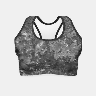 Thumbnail image of Dark Grey Abstract Grunge Design Crop Top, Live Heroes