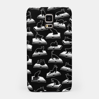 Miniatur Easily Distracted By Cats And Books Book & Cat Lover Pattern Samsung Case, Live Heroes