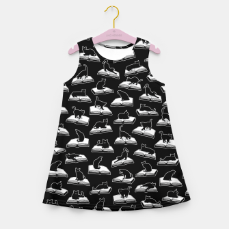 Miniatur Easily Distracted By Cats And Books Book & Cat Lover Pattern Girl's summer dress, Live Heroes
