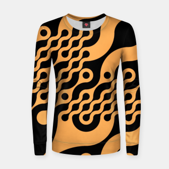 Thumbnail image of Black and orange Women sweater, Live Heroes