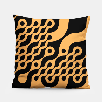 Thumbnail image of Black and orange Pillow, Live Heroes