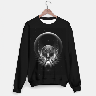 Thumbnail image of Gothic Wing Feitan Skull Fractal Art Sweater regular, Live Heroes