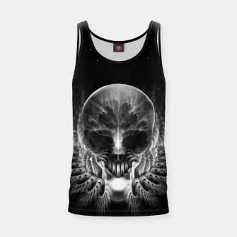 Thumbnail image of Gothic Wing Feitan Skull Fractal Art Tank Top, Live Heroes