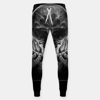 Thumbnail image of Gothic Wing Feitan Skull Fractal Art Sweatpants, Live Heroes