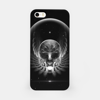 Thumbnail image of Gothic Wing Feitan Skull Fractal Art iPhone Case, Live Heroes