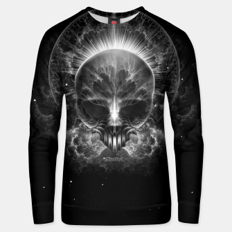 Thumbnail image of Gothic Skull Blaze Abstract Digital Art Unisex sweater, Live Heroes