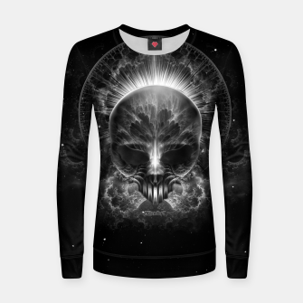 Thumbnail image of Gothic Skull Blaze Abstract Digital Art Women sweater, Live Heroes