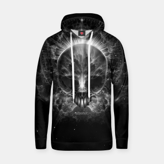 Thumbnail image of Gothic Skull Blaze Abstract Digital Art Hoodie, Live Heroes
