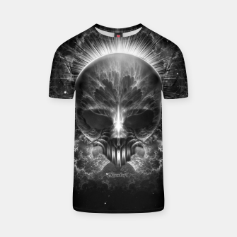 Thumbnail image of Gothic Skull Blaze Abstract Digital Art T-shirt, Live Heroes