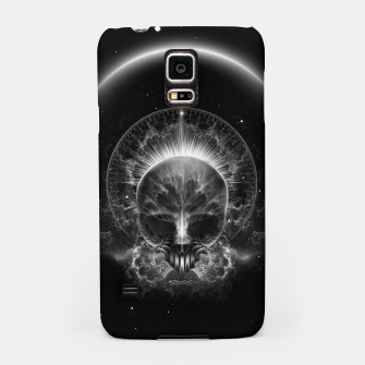 Thumbnail image of Gothic Skull Blaze Abstract Digital Art Samsung Case, Live Heroes