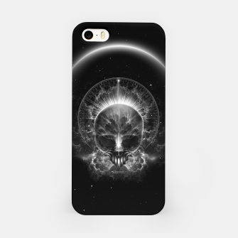 Thumbnail image of Gothic Skull Blaze Abstract Digital Art iPhone Case, Live Heroes