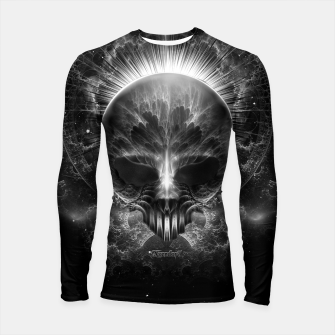 Thumbnail image of Gothic Skull Blaze Abstract Digital Art Longsleeve rashguard , Live Heroes