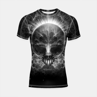 Thumbnail image of Gothic Skull Blaze Abstract Digital Art Shortsleeve rashguard, Live Heroes