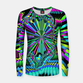 Thumbnail image of Rainbow fractals Women sweater, Live Heroes