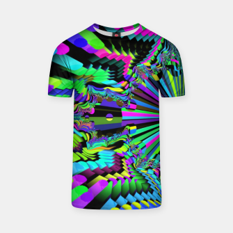 Thumbnail image of Rainbow fractals T-shirt, Live Heroes