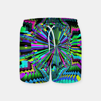 Thumbnail image of Rainbow fractals Swim Shorts, Live Heroes