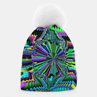 Thumbnail image of Rainbow fractals Beanie, Live Heroes