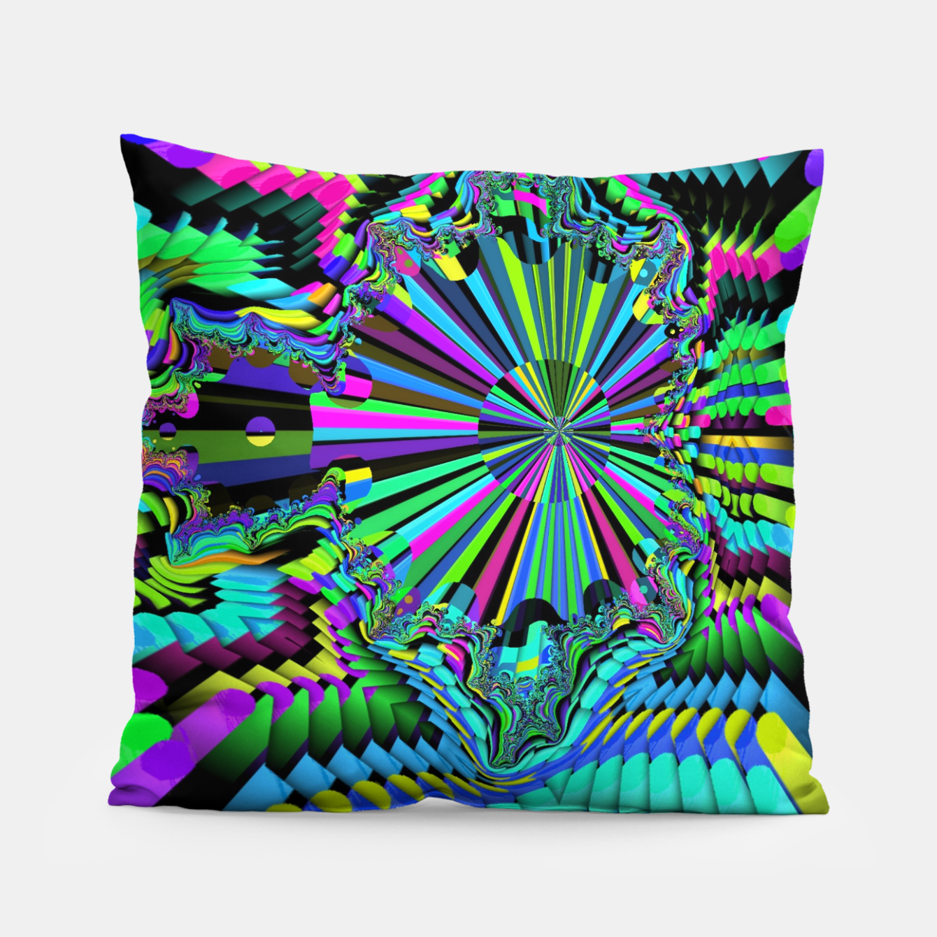Image of Rainbow fractals Pillow - Live Heroes