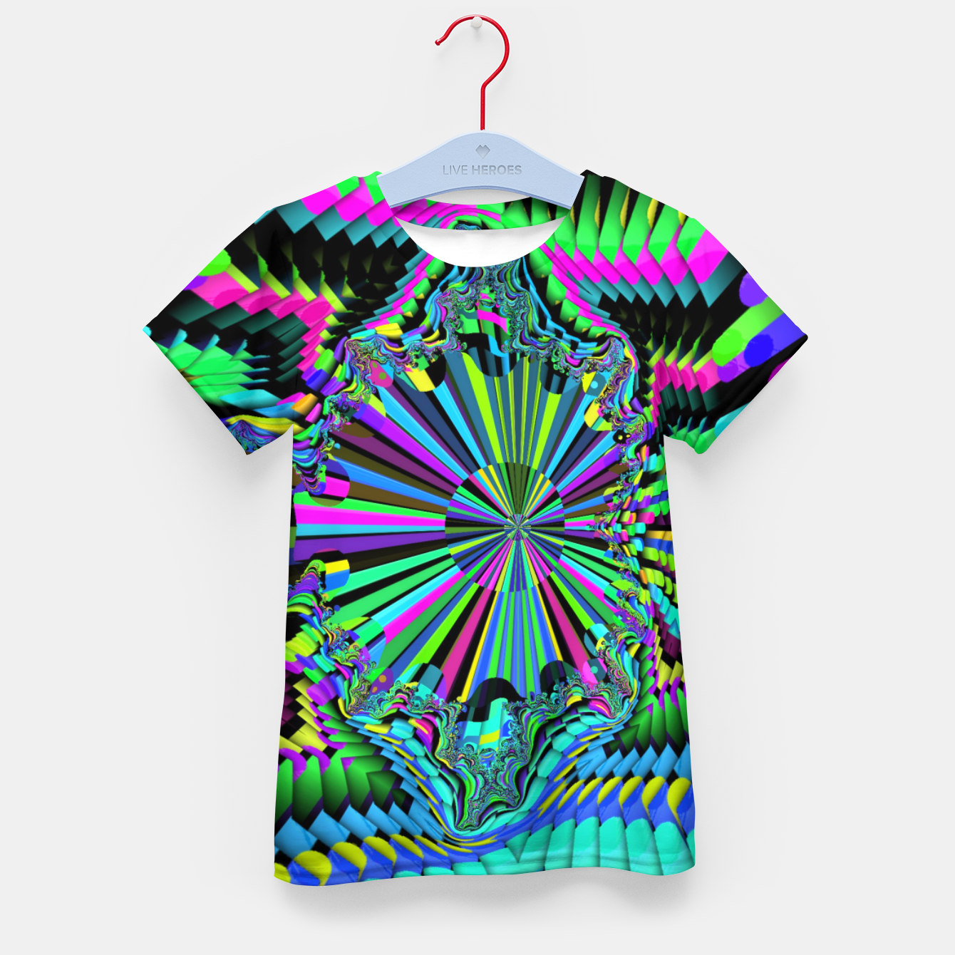 Image of Rainbow fractals Kid's t-shirt - Live Heroes
