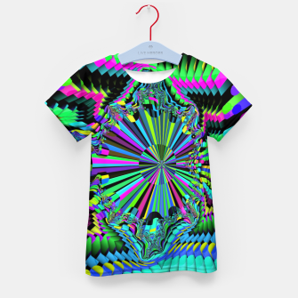 Thumbnail image of Rainbow fractals Kid's t-shirt, Live Heroes