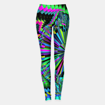 Thumbnail image of Rainbow fractals Leggings, Live Heroes