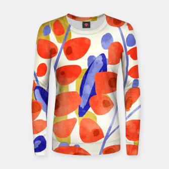Thumbnail image of All Good Things Are Wild & Free, Bold Eclectic Abstract Botanical Watercolor Rustic Painting  Women sweater, Live Heroes