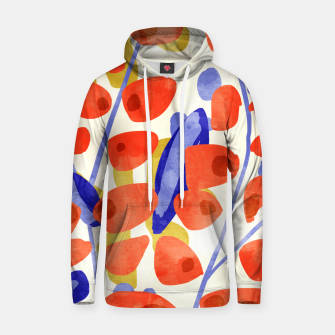 Thumbnail image of All Good Things Are Wild & Free, Bold Eclectic Abstract Botanical Watercolor Rustic Painting  Hoodie, Live Heroes