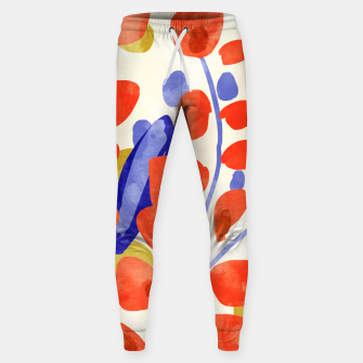 Thumbnail image of All Good Things Are Wild & Free, Bold Eclectic Abstract Botanical Watercolor Rustic Painting  Sweatpants, Live Heroes