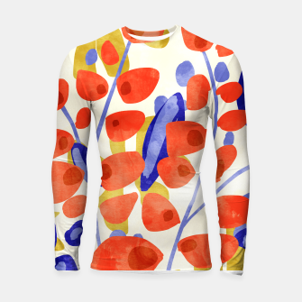 Thumbnail image of All Good Things Are Wild & Free, Bold Eclectic Abstract Botanical Watercolor Rustic Painting  Longsleeve rashguard , Live Heroes