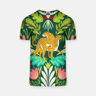 Imagen en miniatura de Cheetah Couple Illustration, Wild Cat Jungle Nature, Mandala Painting, Wildlife Tropical Tiger T-shirt, Live Heroes