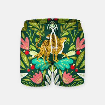 Imagen en miniatura de Cheetah Couple Illustration, Wild Cat Jungle Nature, Mandala Painting, Wildlife Tropical Tiger Swim Shorts, Live Heroes