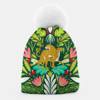 Imagen en miniatura de Cheetah Couple Illustration, Wild Cat Jungle Nature, Mandala Painting, Wildlife Tropical Tiger Beanie, Live Heroes
