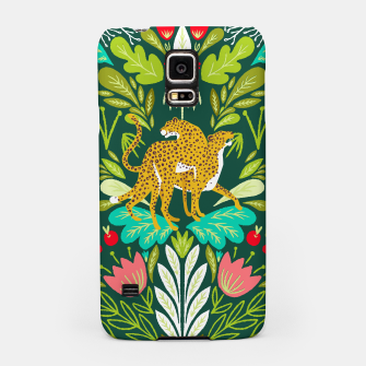 Imagen en miniatura de Cheetah Couple Illustration, Wild Cat Jungle Nature, Mandala Painting, Wildlife Tropical Tiger Samsung Case, Live Heroes