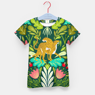 Imagen en miniatura de Cheetah Couple Illustration, Wild Cat Jungle Nature, Mandala Painting, Wildlife Tropical Tiger Kid's t-shirt, Live Heroes