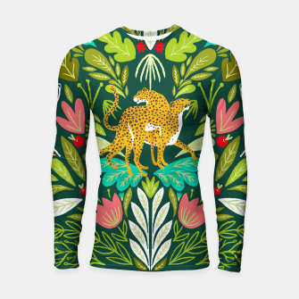 Imagen en miniatura de Cheetah Couple Illustration, Wild Cat Jungle Nature, Mandala Painting, Wildlife Tropical Tiger Longsleeve rashguard , Live Heroes