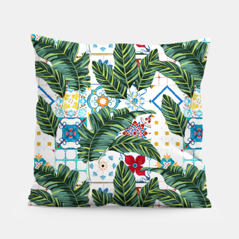 Thumbnail image of Plant a Garden In Which Strange Plants Grow & Mysteries Bloom Pillow, Live Heroes