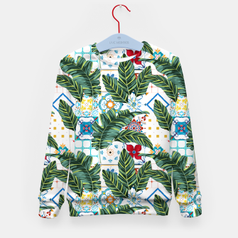 Thumbnail image of Plant a Garden In Which Strange Plants Grow & Mysteries Bloom Kid's sweater, Live Heroes