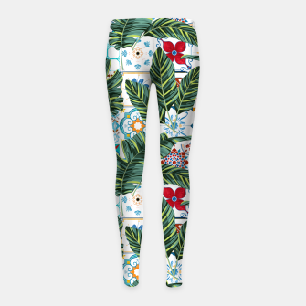 Thumbnail image of Plant a Garden In Which Strange Plants Grow & Mysteries Bloom Girl's leggings, Live Heroes
