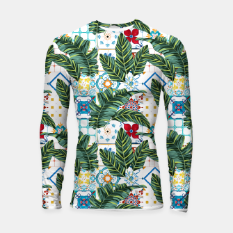 Thumbnail image of Plant a Garden In Which Strange Plants Grow & Mysteries Bloom Longsleeve rashguard , Live Heroes