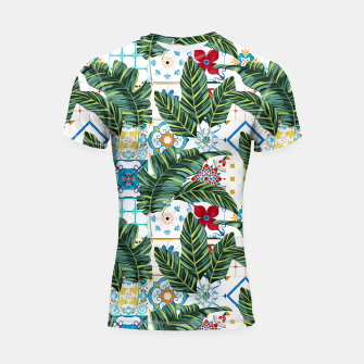Thumbnail image of Plant a Garden In Which Strange Plants Grow & Mysteries Bloom Shortsleeve rashguard, Live Heroes