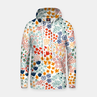Thumbnail image of Meadow Flowers Minimal Illustration, Botanical Nature Floral Colorful Summer Painting Hoodie, Live Heroes
