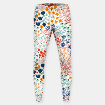 Thumbnail image of Meadow Flowers Minimal Illustration, Botanical Nature Floral Colorful Summer Painting Sweatpants, Live Heroes