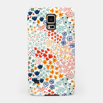 Thumbnail image of Meadow Flowers Minimal Illustration, Botanical Nature Floral Colorful Summer Painting Samsung Case, Live Heroes